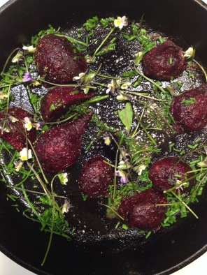 beets in cast iron